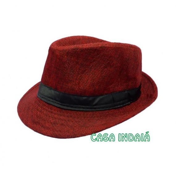 Chapéu Trickster Vermelho c/ Fita Preta
