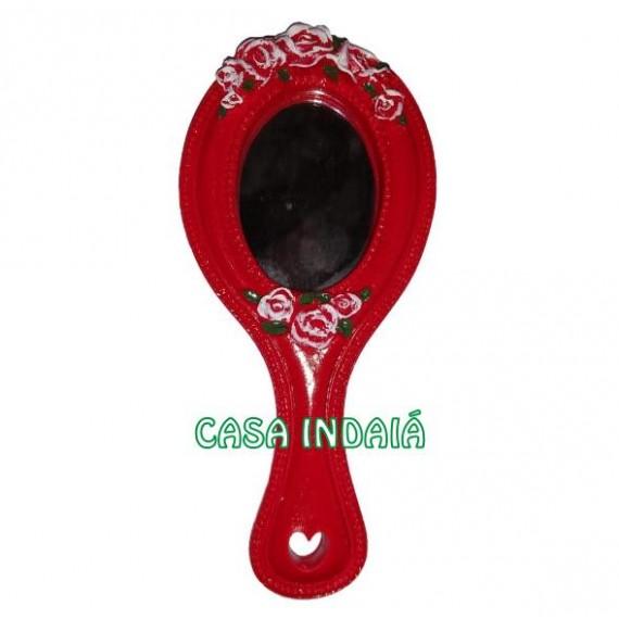 Espelho Abebe Luxo Vermelho