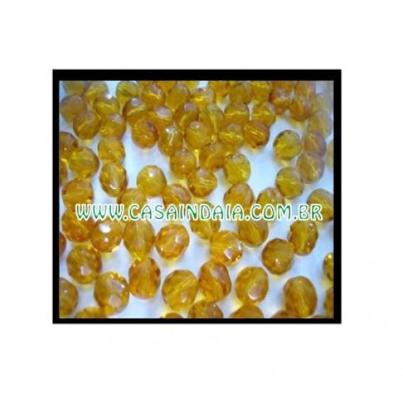 Conta Amarela 8mm Cristal