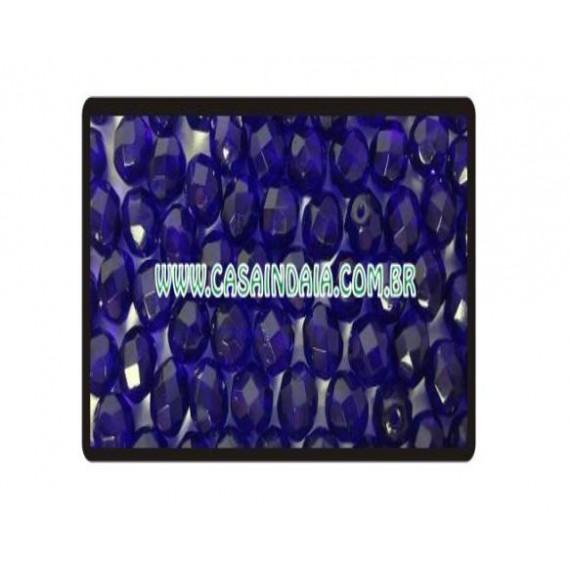 Conta Azul Escuro 8mm Cristal