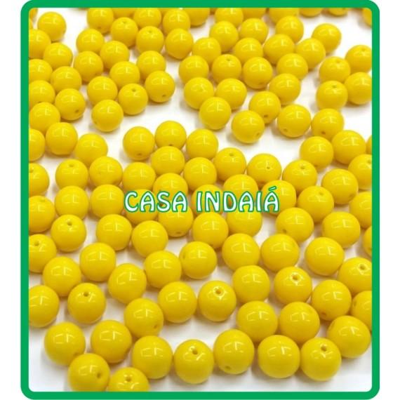 Conta Amarela 8mm Porcelana