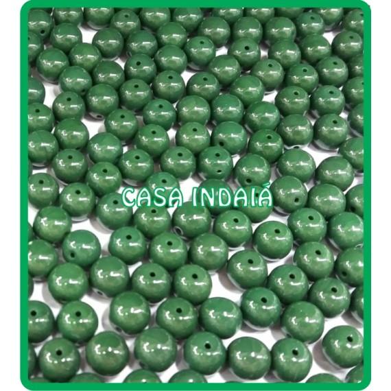Conta Verde 8mm Porcelana
