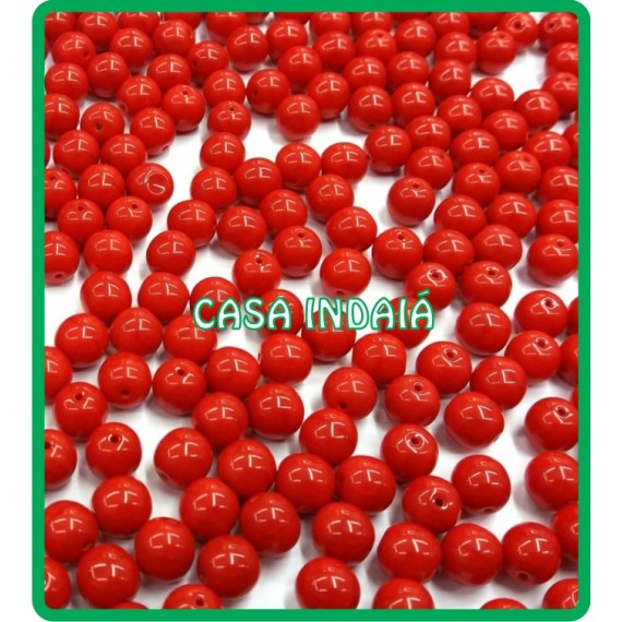 Conta Vermelha 8mm Porcelana