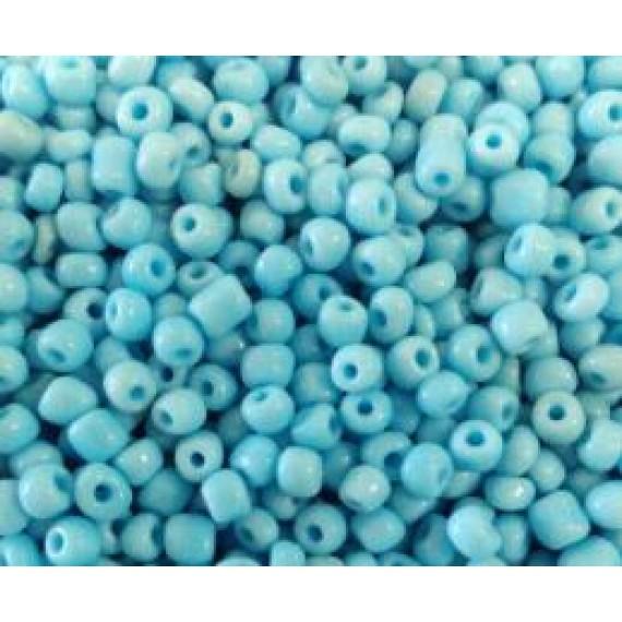 Miçanga Azul Clara Leitosa