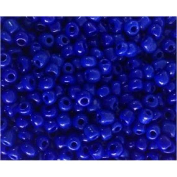 Miçanga Azul Escura Leitosa
