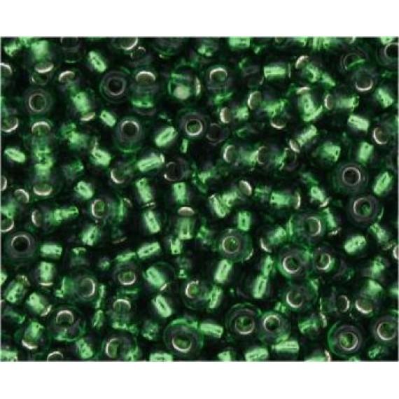 Miçanga Verde Transparente
