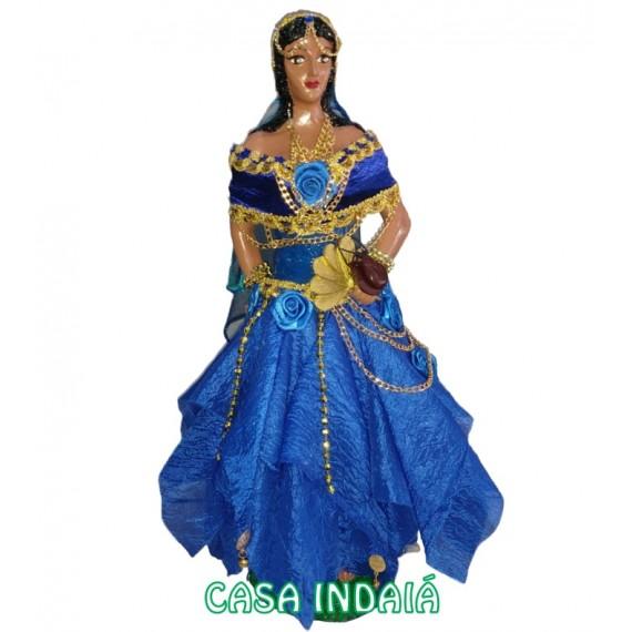 Cigana 60cm em Resina (Roupa Azul)