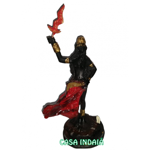 Iansan 15cm (Roupa Vermelha) em Resina