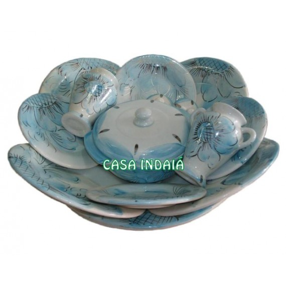 Ibá Azul Claro Florido e Filetado