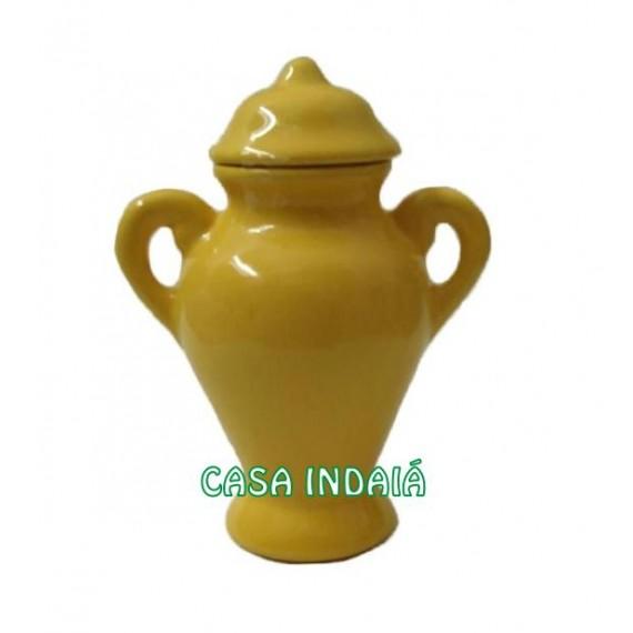 Quartinha 20cm Amarela c/ Asa