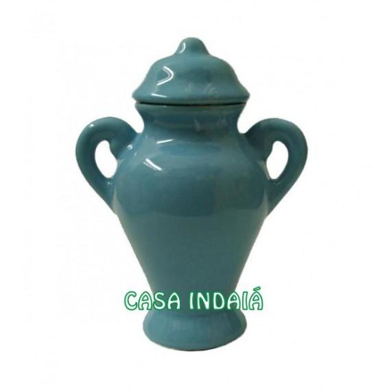 Quartinha 20cm Azul Clara c/ Asa