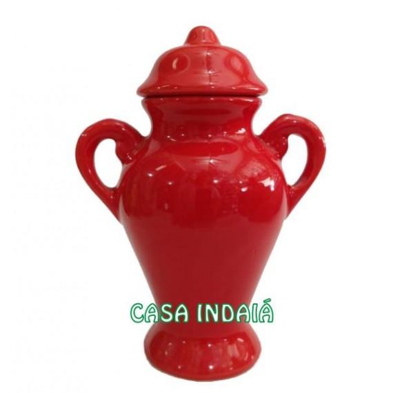 Quartinha 20cm Vermelha c/ Asa