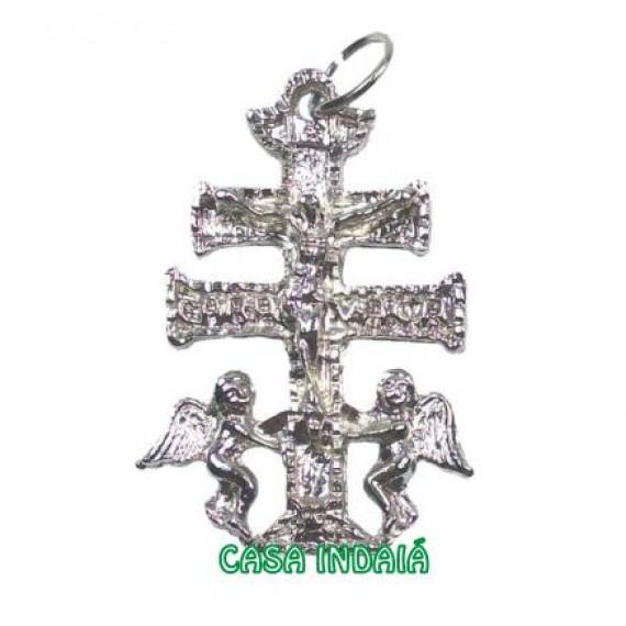 Cruz de Caravaca em Metal Grande