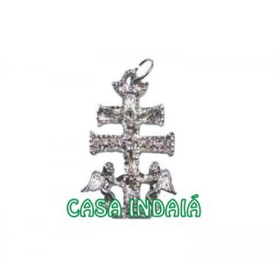 Cruz de Caravaca em Metal Pequeno