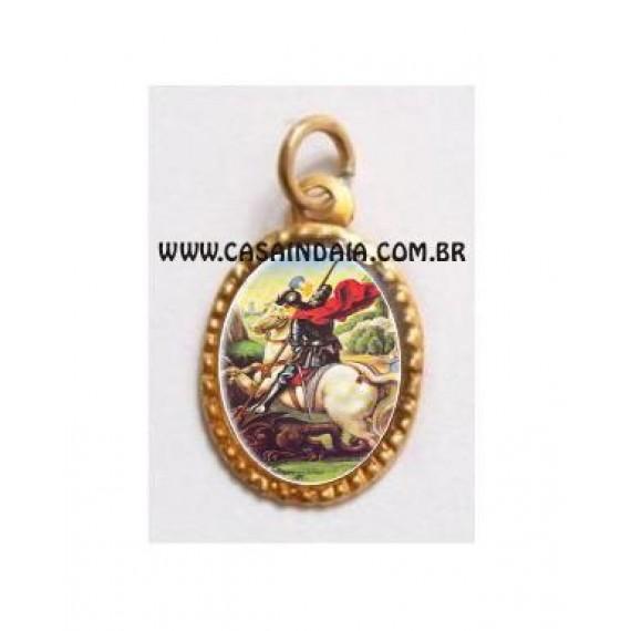 Medalha São Jorge Resinada