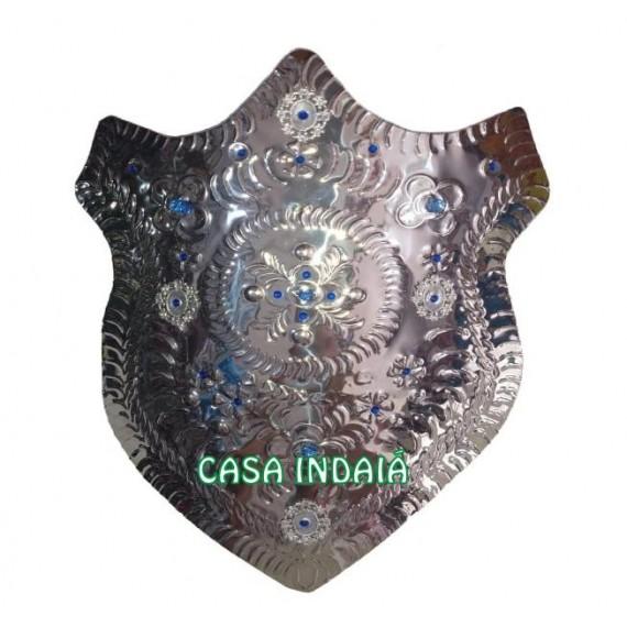 Escudo Super Luxo c/ Pedra Azul