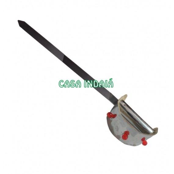 Espada Luxo c / Pedras Vermelhas