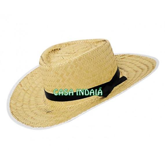 Chapéu de Palha com Fita Preta