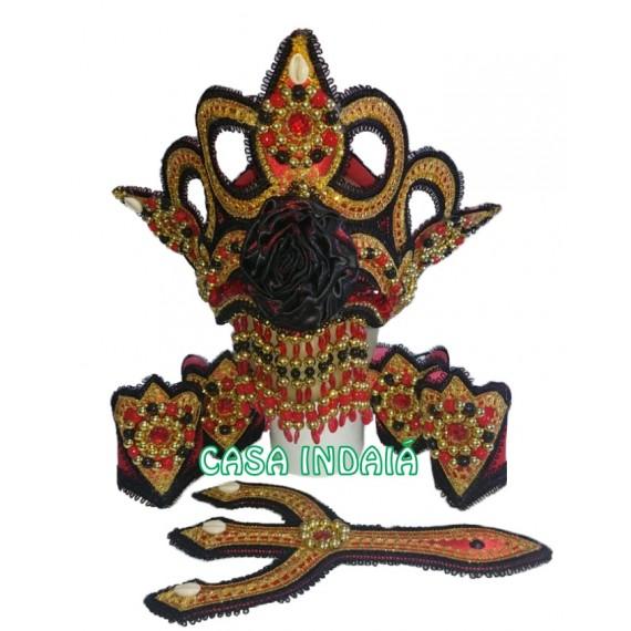 Paramenta Luxo Pomba Gira (Preta e Vermelha)