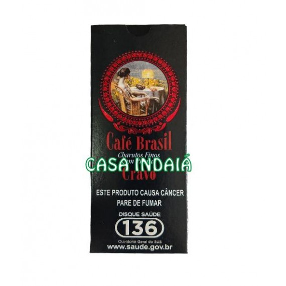 Cigarrilha Café Brasil c/ Piteira (Cravo)